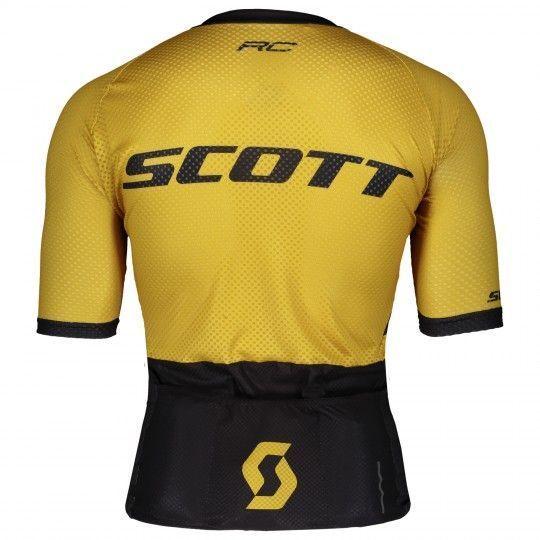 Scott RC Premium CLIMBER Radtrikot kurzarm schwarz ockergelb 2