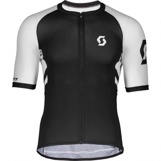 Scott RC Premium CLIMBER Radtrikot kurzarm schwarz/weiß 1