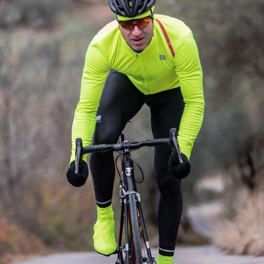 Sportful Fiandre Cabrio Jacket 2-1 winter cycling jacket fluo yellow/black