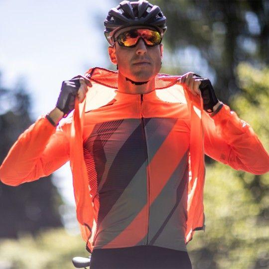 Sportful Hot Pack Easylight Fahrrad Windjacke orange 4