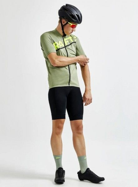 Studiobild2 Craft Core Endurance Logo Fahrrad Kurzarmtrikot grün
