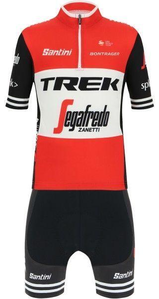 TREK - SEGAFREDO 2019 kids short sleeve jersey - Santini professional cycling team