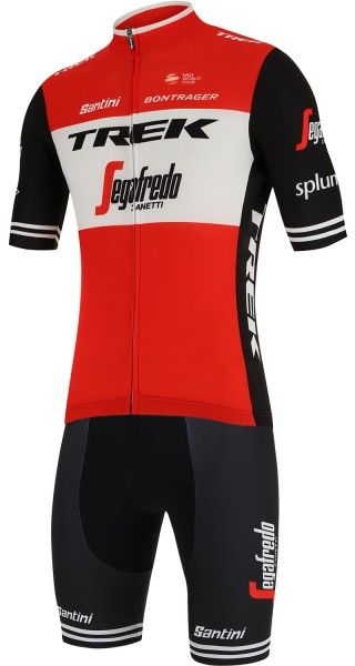 TREK - SEGAFREDO 2019 Trägerhose kurz - Santini Radsport-Profi-Team Größe L (4)