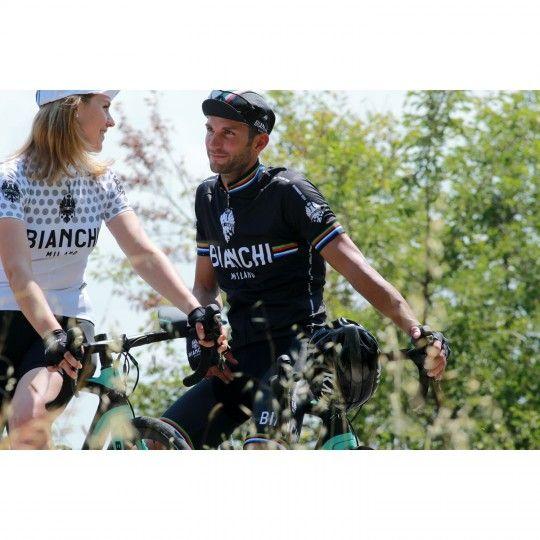 Bianchi Milano Radsport-Trägerhose VICTORY - Campione del Mondo schwarz (E19-4000) Größe XXL (6)