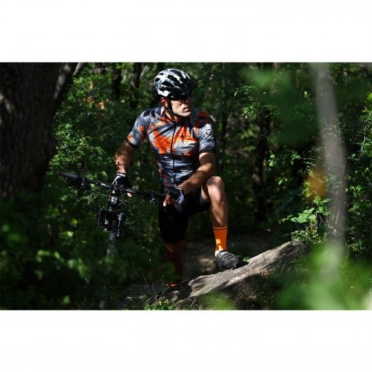 Actionbild 1 Nalini CROSS 2.0 Kurzarmtrikot orange/grau