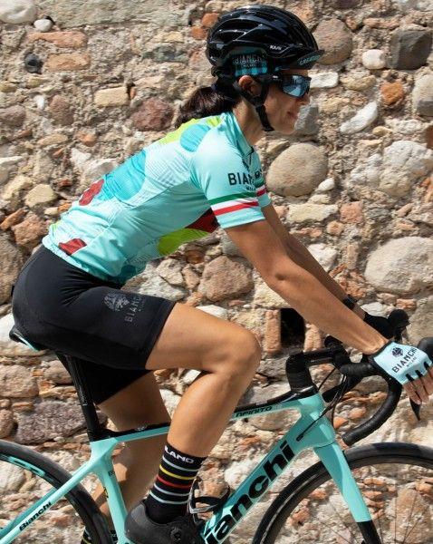 Actionbild3 ANCIPA Fahrrad Kurzarmtrikot Damen celeste