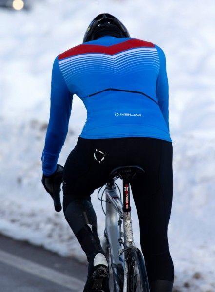 Actionbild3 Nalini LS Fit Jersey Fahrrad Langarmtrikot blau