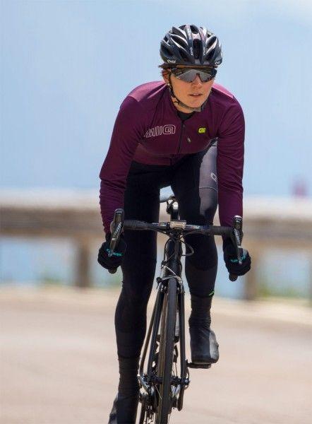 Alé COLOR BLOCK Damen Fahrrad Winterjacke lila 04