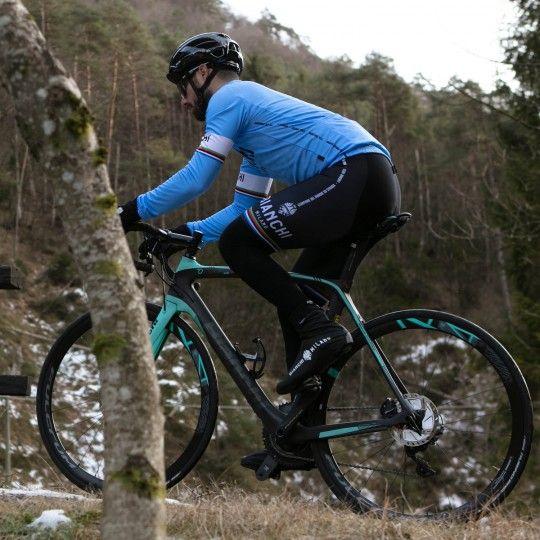 Bianchi Milano Langarmtrikot Leggenda blau 4180 5