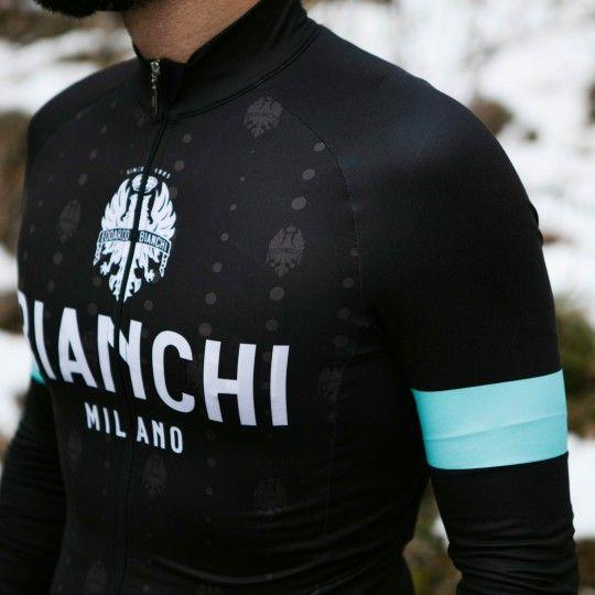 Bianchi Milano Perticara Radtrikot langarm schwarz 5