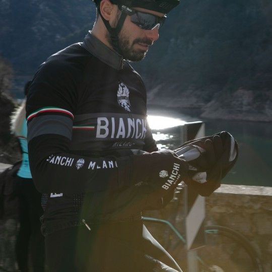 Bianchi Milano Sillaro Radtrikot langarm schwarz 5