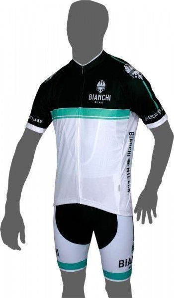 Bianchi Milano CONDRO cycling bib trousers white/celeste
