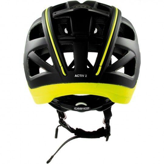 Casco ACTIV 2 Fahrradhelm schwarz/neongelb 4