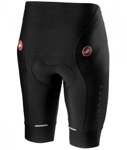 Set de ciclismo (maillot de manga corta AVANTI + culotte sin tirantes COMPETIZIONE, gris plata/negro) - Castelli