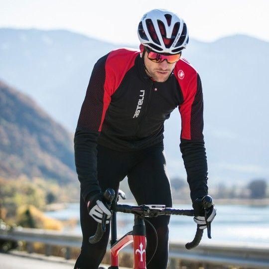 Castelli MORTIROLLO V Fahrrad Winterjacke schwarz/rot 5