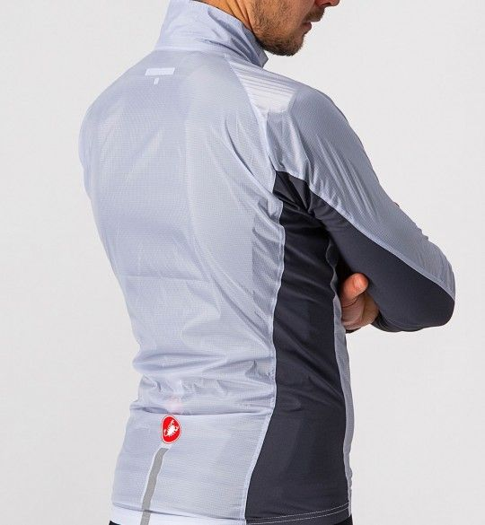 Chaqueta de ciclismo cortavientos SQUADRA STRETCH JACKET (gris plata) - Castelli