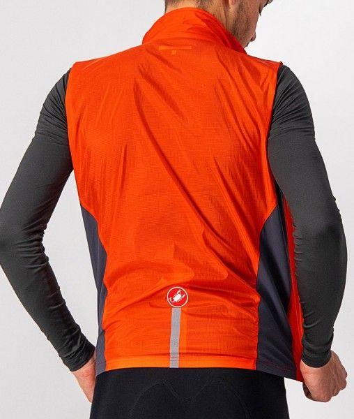 Castelli SQUADRA STRETCH VEST - Fahrradweste orange-rot 5