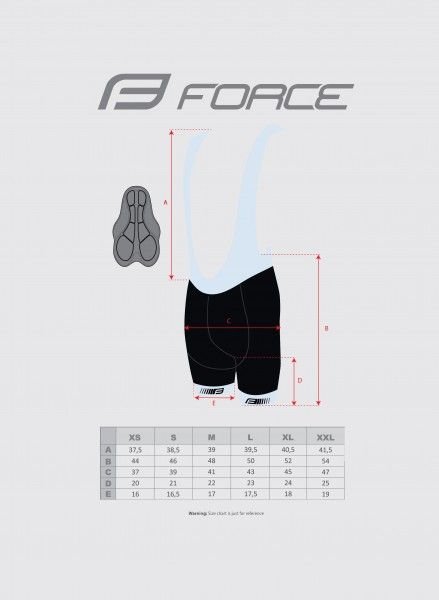 Force B38 cycling bib shorts black/yellow fluo (900274)