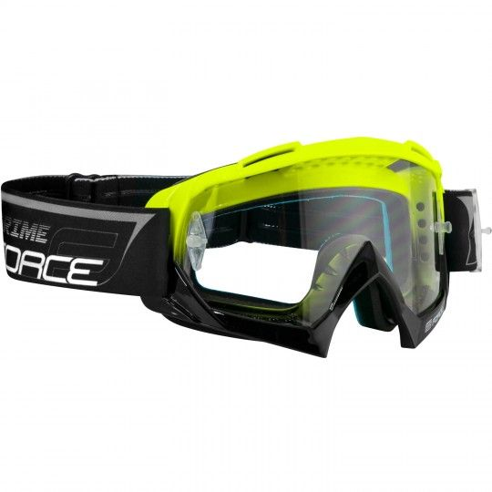 Force GRIME goggle Downhill MTB Brille neongelb/schwarz 1