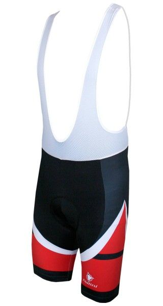 Nalini CARBON Fahrrad-Trägerhose schwarz/rot 1