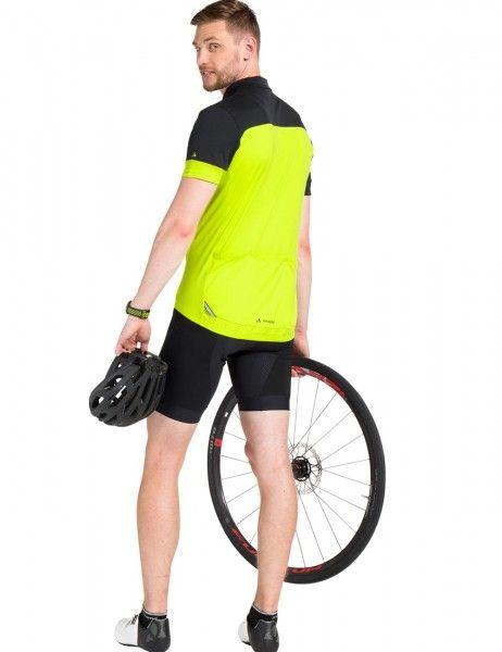 vaude men mossano t-shirt V Radtrikot kurzarm gelb grün 5