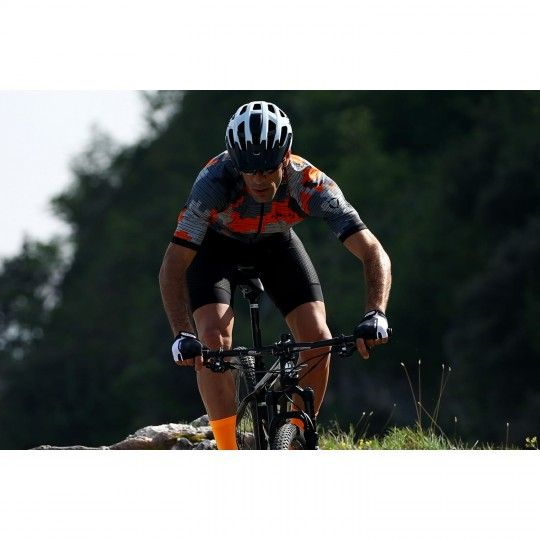 Actionbild 2 Nalini CROSS 2.0 Kurzarmtrikot orange/grau