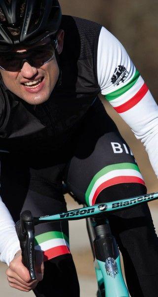 Actionbild3 Bianchi Milano TERMINO Fahrrad Winterhose schwarz