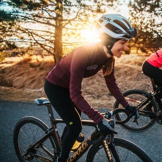 Alé COLOR BLOCK Damen Fahrrad Winterjacke lila 05