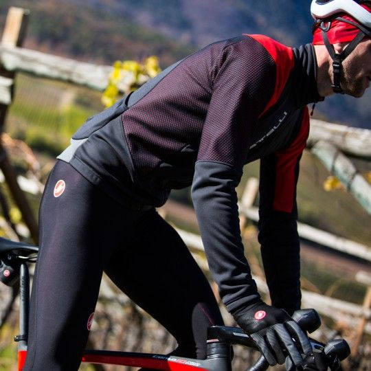 Castelli MORTIROLLO V Fahrrad Winterjacke schwarz/rot 6