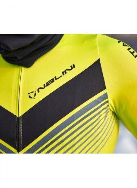 Detailbild1 Nalini LS Fit Jersey Fahrrad Langarmtrikot neongelb
