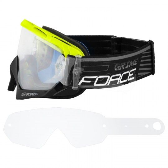 Force GRIME goggle Downhill MTB Brille neongelb/schwarz 2