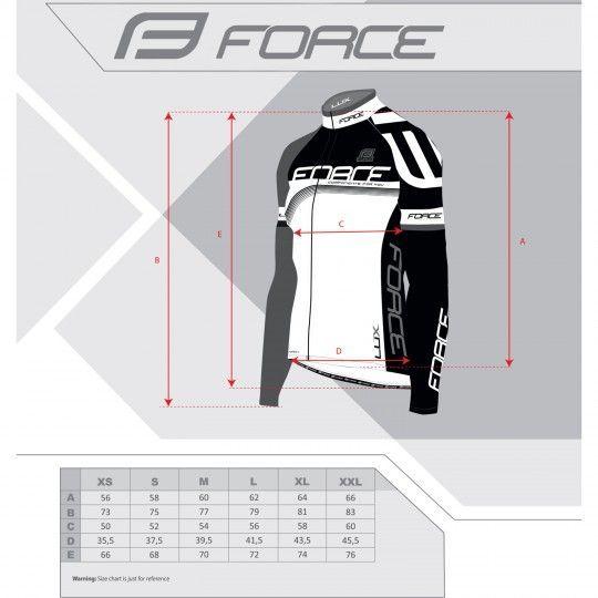 Force LUX Radtrikot langarm schwarz/neongelb (900141) Größe M (3)
