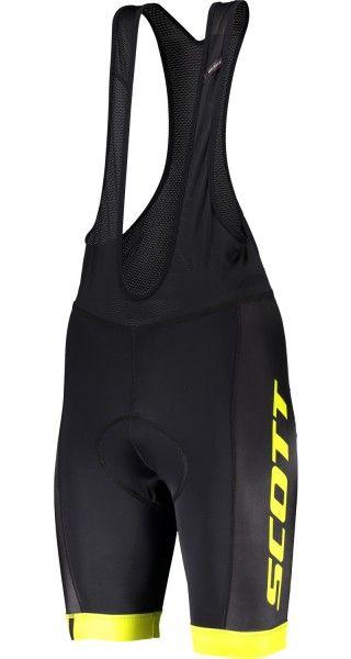 Scott RC TEAM Trägerhose schwarz/neongelb 1