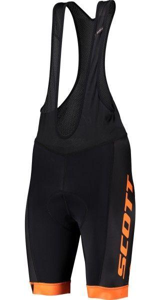 Scott RC TEAM Trägerhose schwarz/orange 1