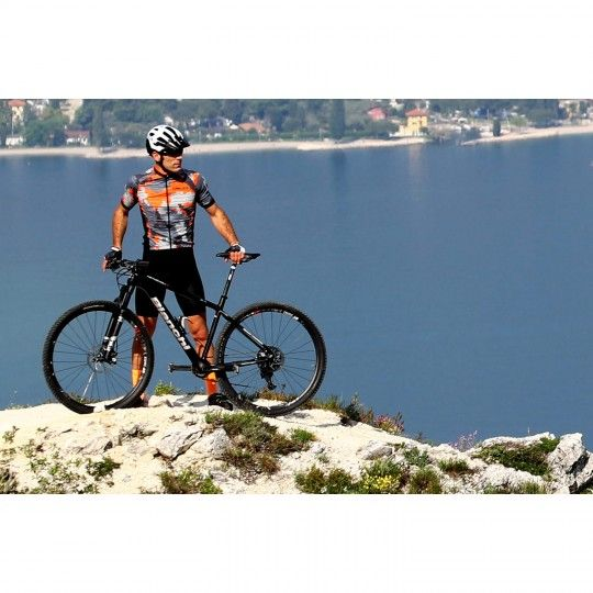 Actionbild 3 Nalini CROSS 2.0 Kurzarmtrikot orange/grau