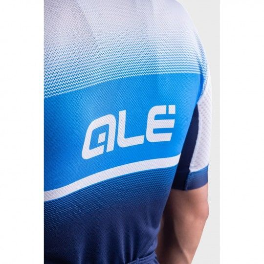 Alé BLEND Radtrikot kurzam blau/weiß 6