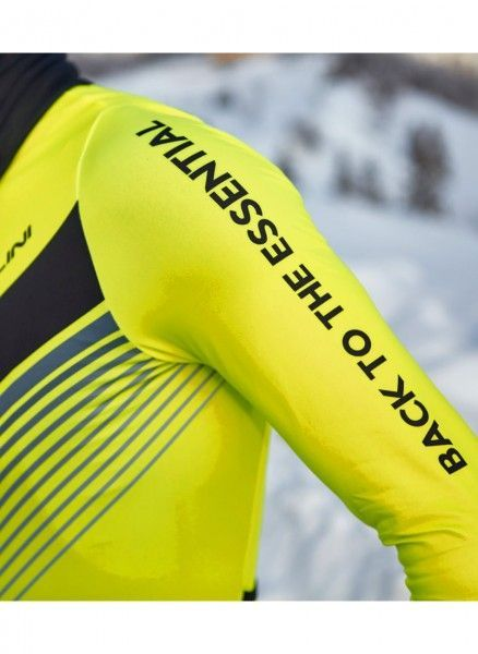 Detailbild2 Nalini LS Fit Jersey Fahrrad Langarmtrikot neongelb
