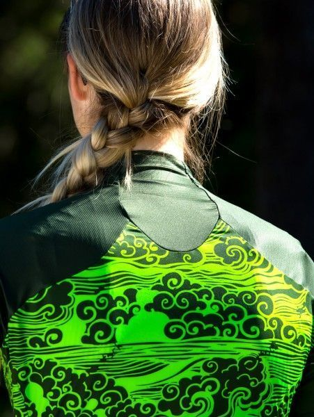 Detailbild3 Nalini Beijing 2008 Damen Fahrrad Kurzarmtrikot grün