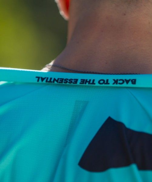 Detailbild3 Nalini Stripes Jersey Fahrrad Kurzarmtrikot türkis