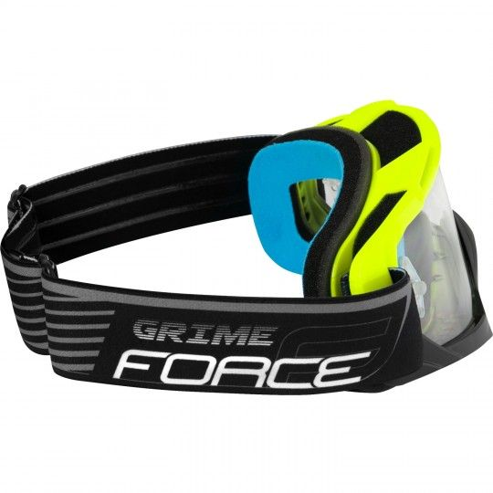 Force GRIME goggle Downhill MTB Brille neongelb/schwarz 3