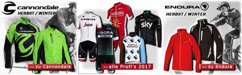 Cannondale Herbst/Winter 17-18, Profi-Radteams 2017 und Endura Herbst/Winter 17-18