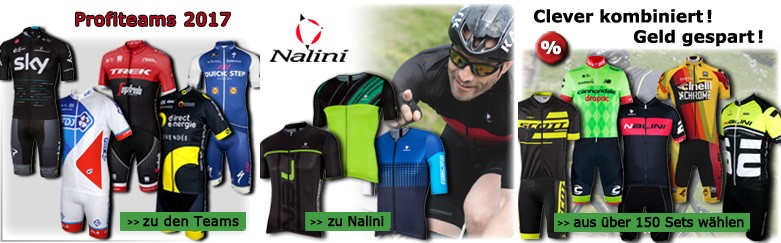 Profi-Radteams 2017, Nalini Radbekleidung und Radsport-Sets