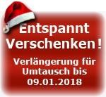 Verlängerung der Umtauschfrist bis zum 09.01.2018