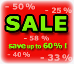 Sale - save up to 60%!