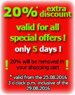 20% extra-discount for all special offers